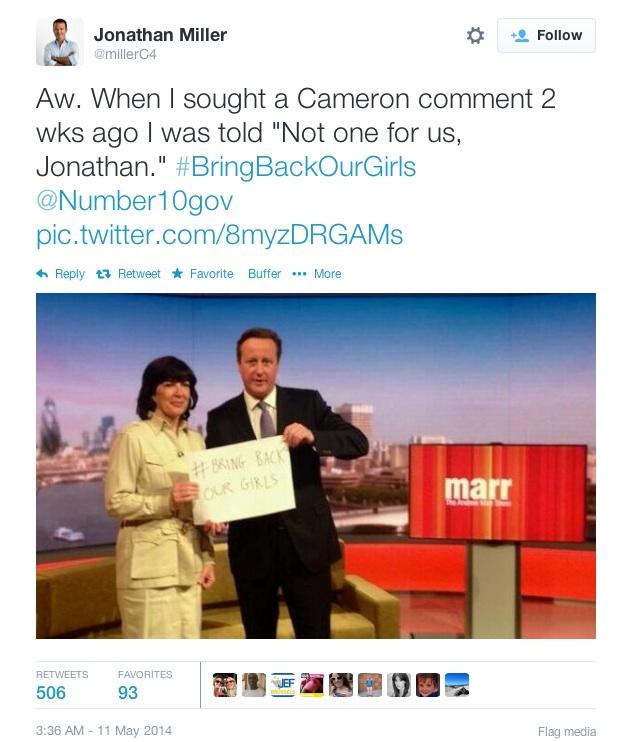 Cameron Hashtag politics